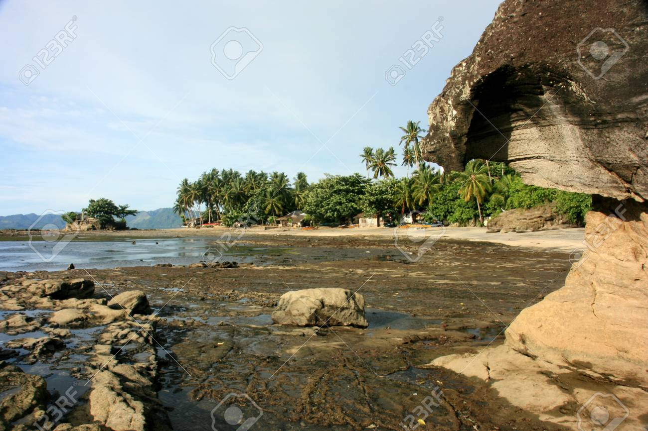 Rocky shore during low tide Stock Photo - 9837507
