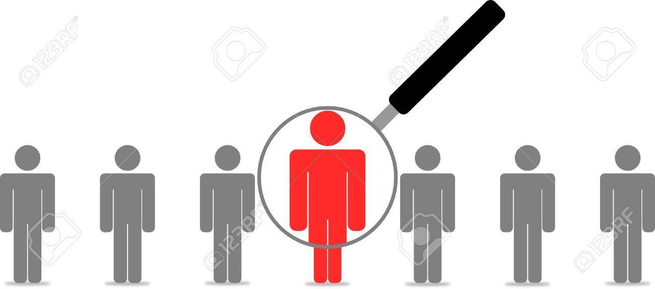 Employee Search Stock Vector - 7819476