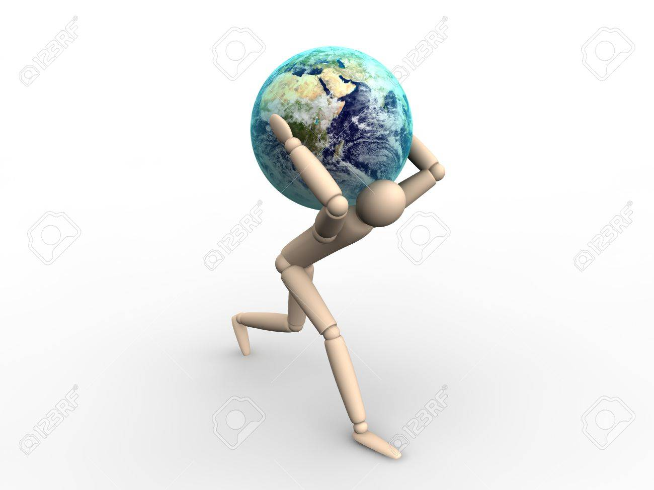 man carrying earth stock photo picture and royalty free image