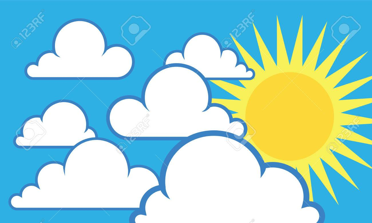 sunny sky with some white clouds royalty free cliparts vectors and rh 123rf com ski clip art free sky clip art images