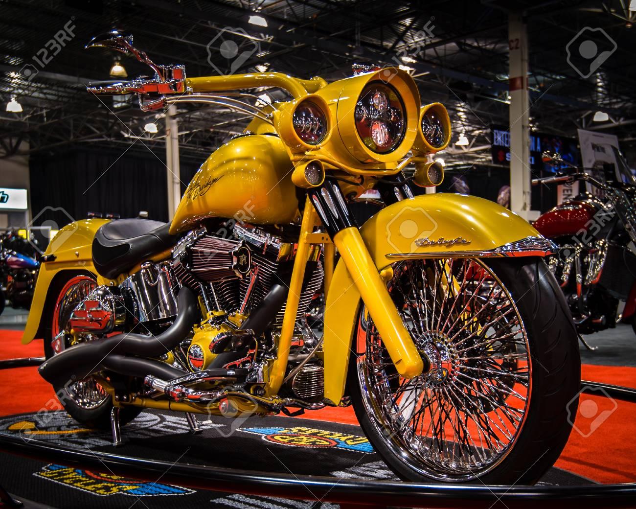 Harley Davidson Michigan >> Novi Mi Usa January 3 2014 A Customized Harley Davidson Stock