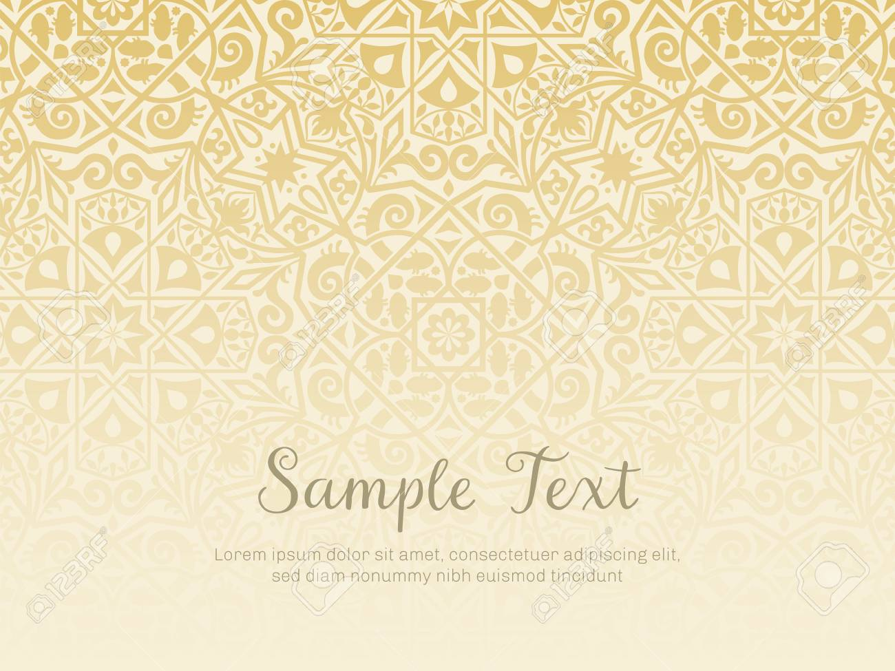 Background Design In Arabesque Style Gradual Texture Perfect