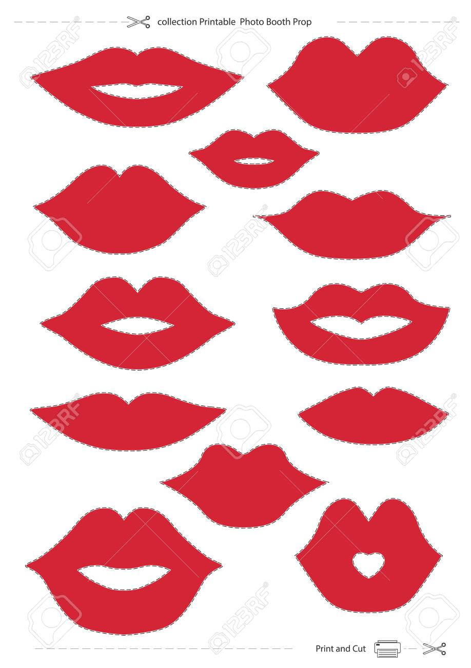 image regarding Photo Props Printable named lips selection Printable Image Booth Prop