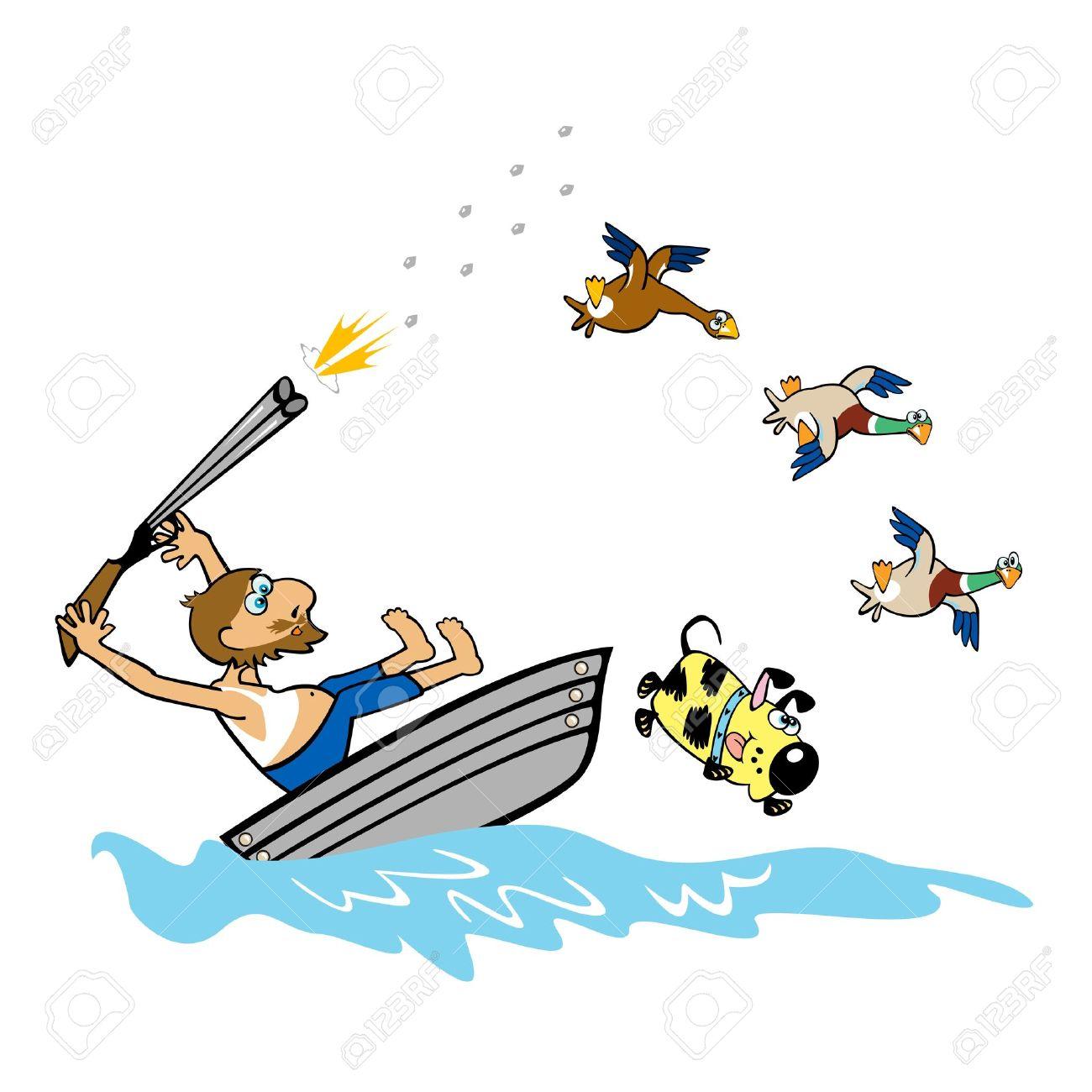 Boating aged man hunting wild duckscartoon illustration on white boating aged man hunting wild duckscartoon illustration on white background stock vector 14676935 sciox Gallery