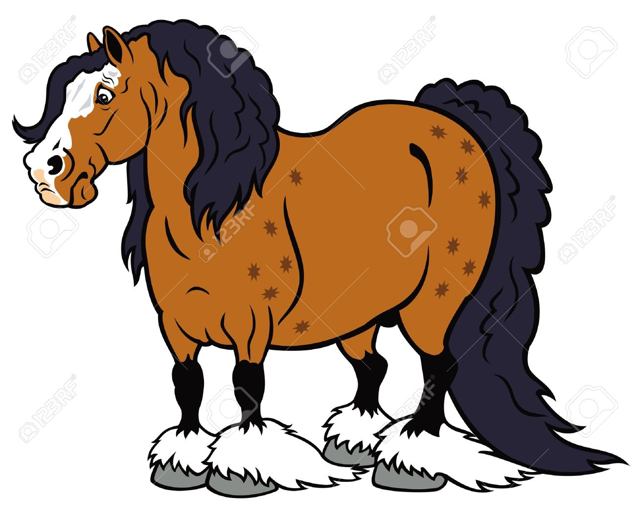 heavy horse clydesdale breed,cartoon picture isolated on white background Stock Vector - 17071256