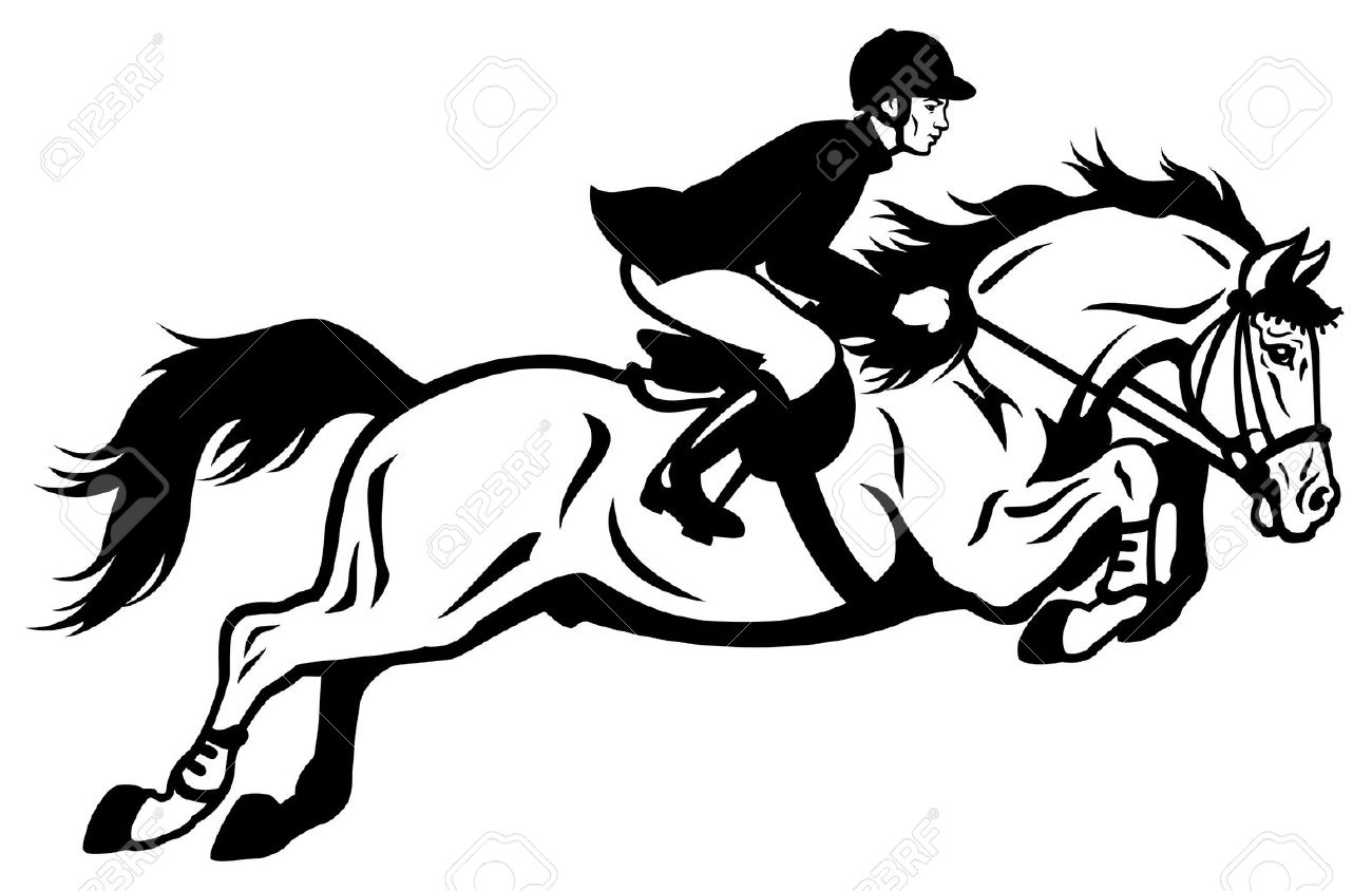 Horse Rider Equestrian Jumping Royalty Free Cliparts Vectors And Stock Illustration Image 19754662