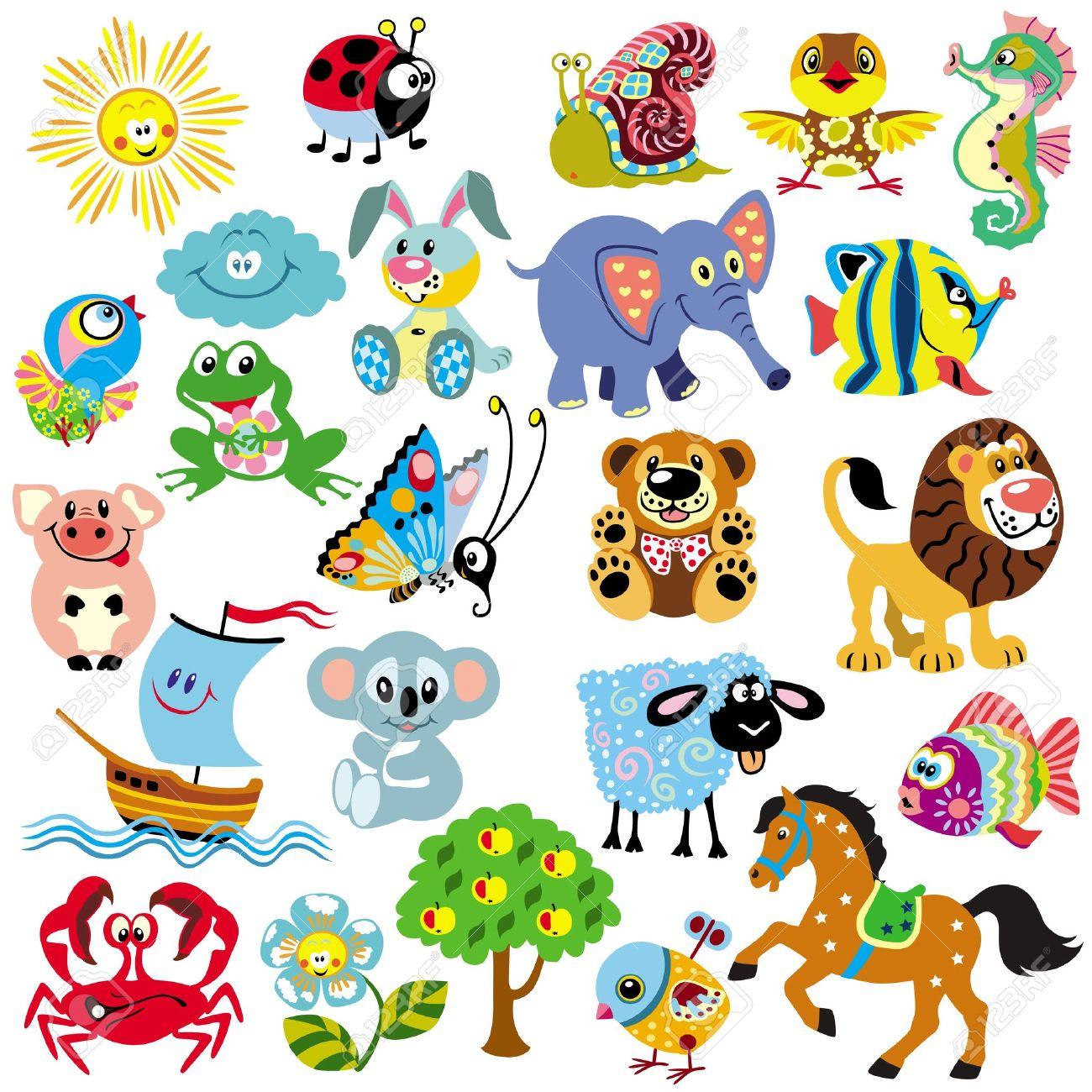 Gran Conjunto De Imágenes Para Los Bebés Y Los Niños Pequeños, Las ...