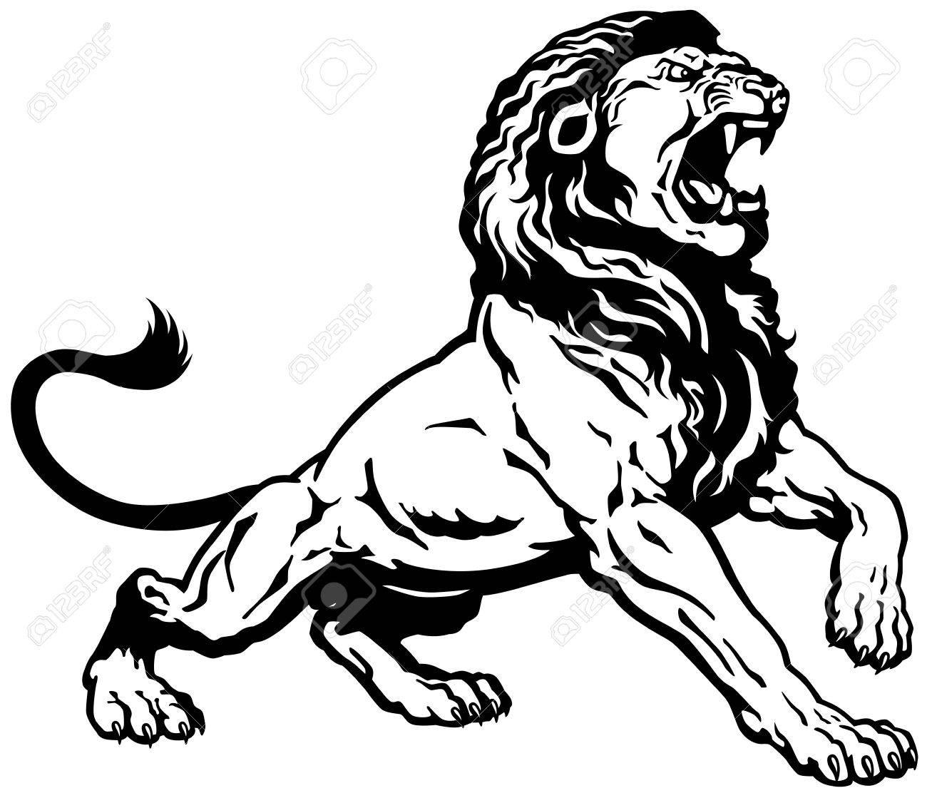 lions roar  roaring lion  Lion Roaring Drawing