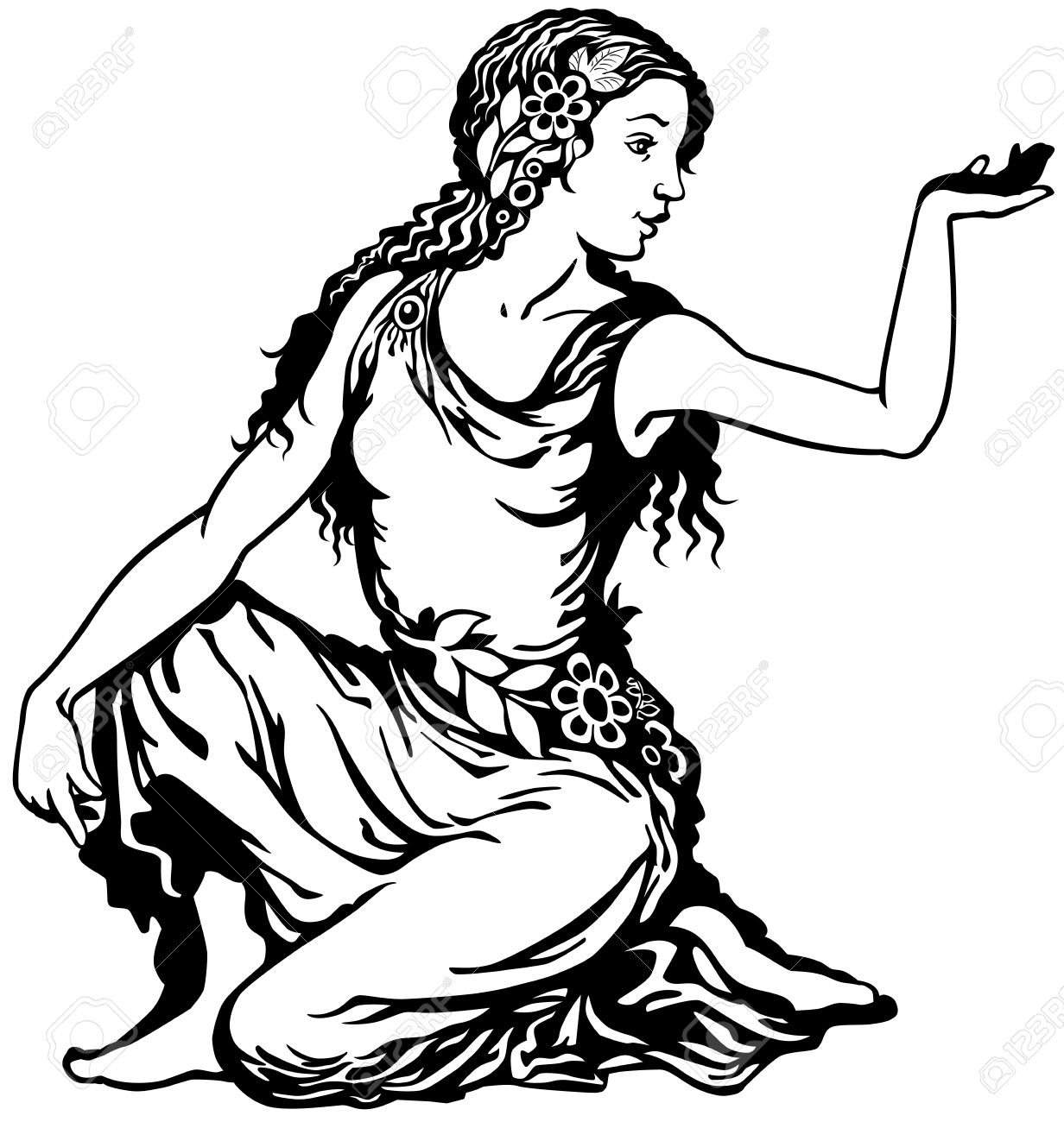 young woman, virgo astrological zodiac sign, black and white