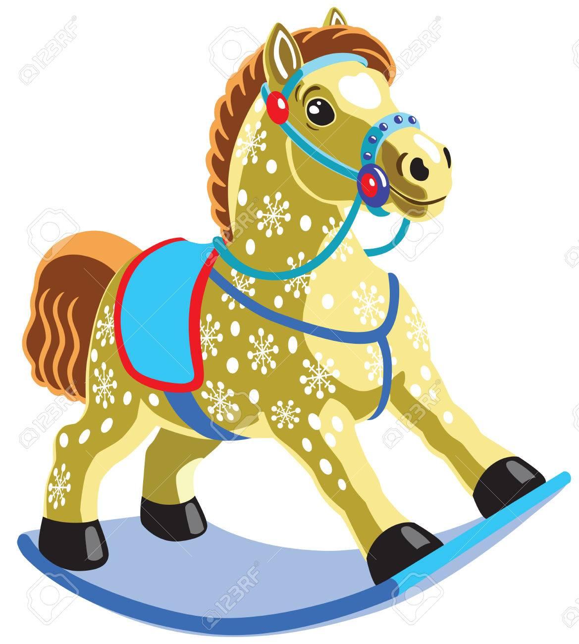 Bascule jouet cheval, image isolée pour les petits enfants