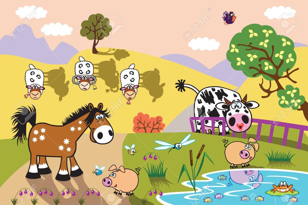 Resultado de imagen de countryside dibujo