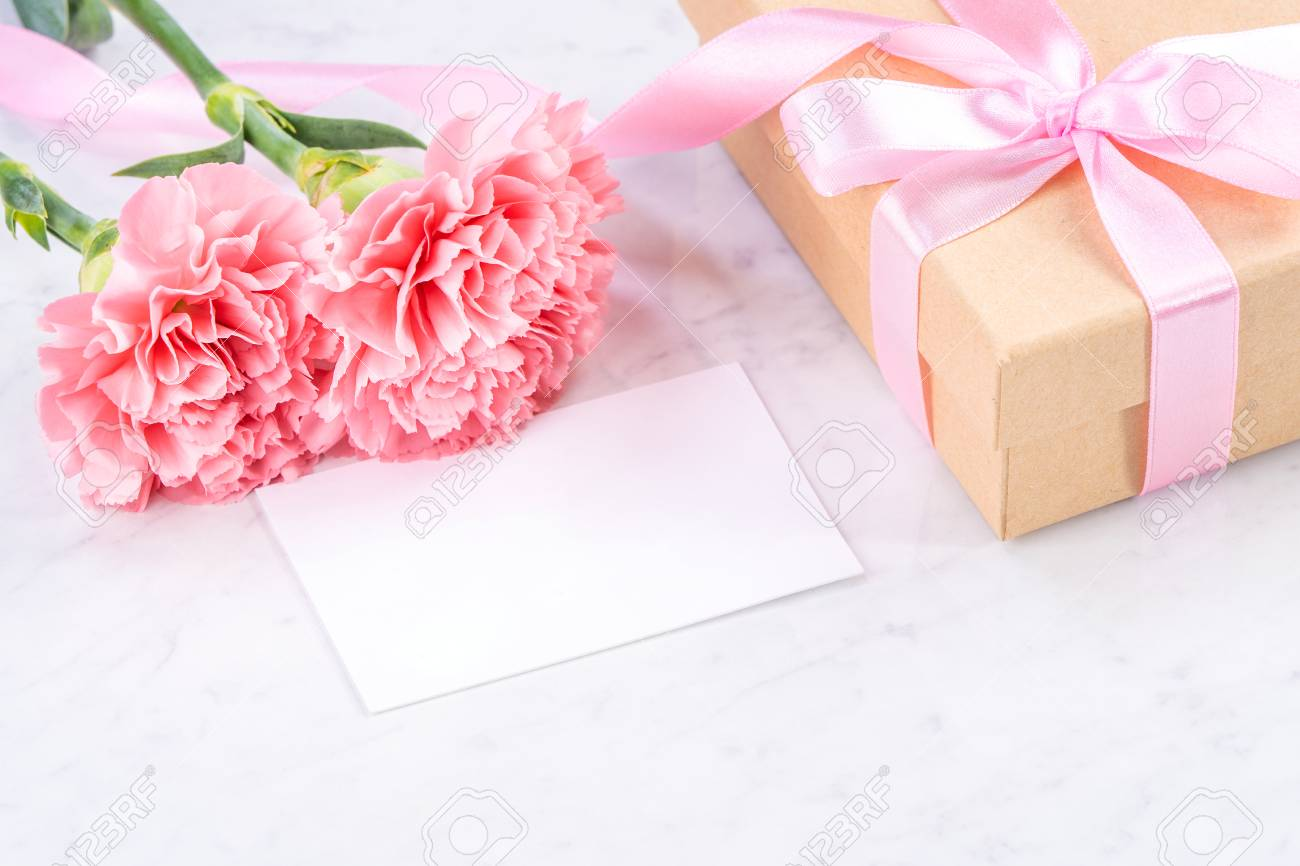 May Mothers Day Handmade Giftbox Idea Concept Beautiful Blooming