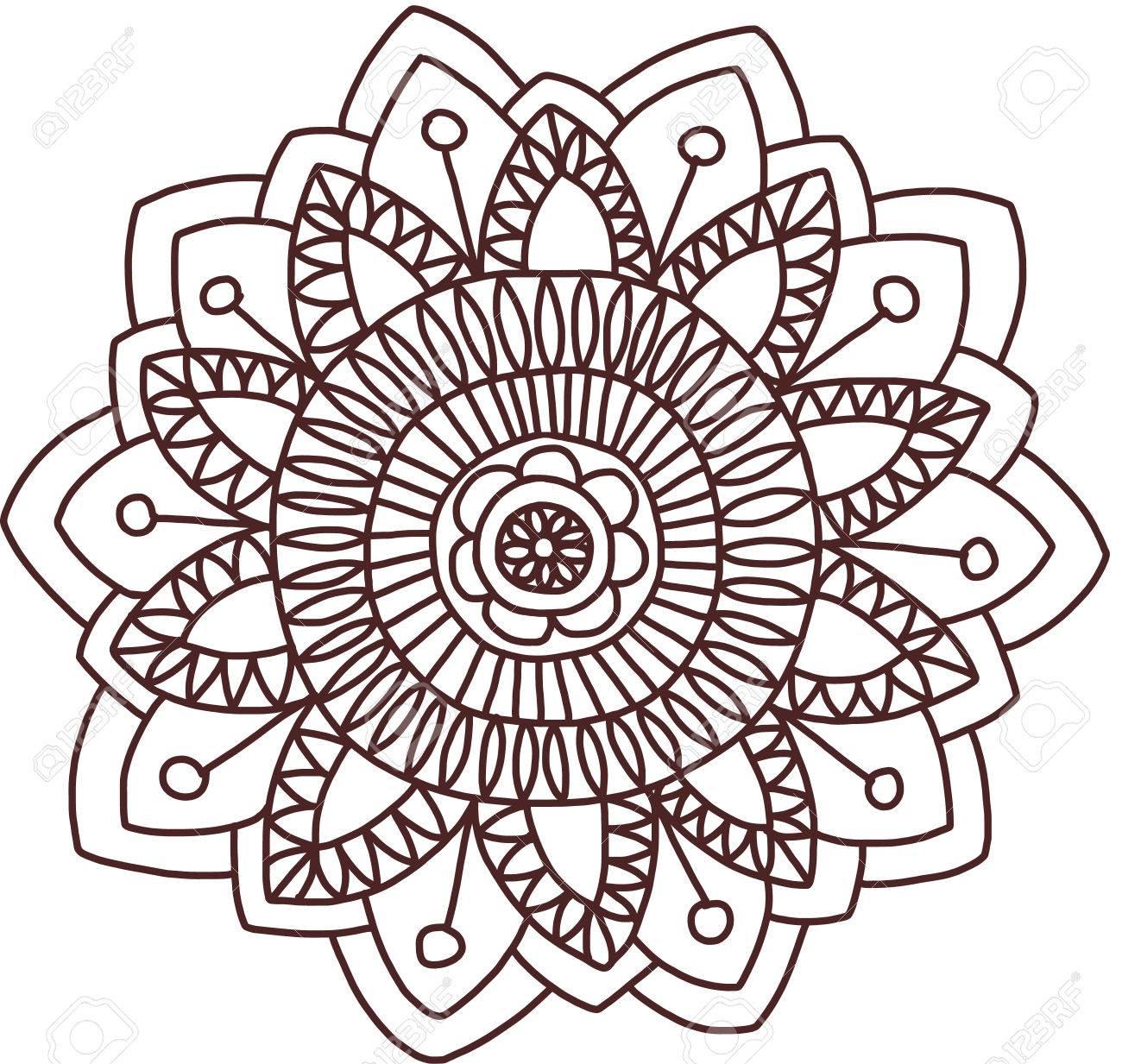 vector ethnic mehndi pattern template for mehndi ornament hand