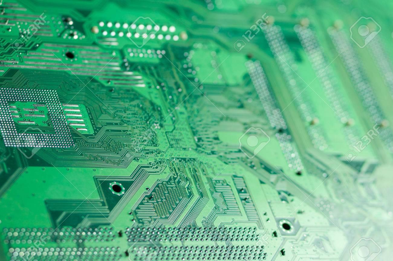 Blurred Printed Circuit Board Wallpaper