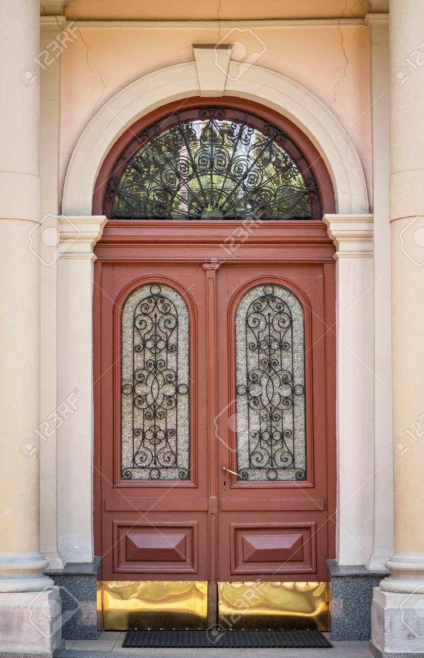 The Door Of The Old European Building Exterior Design Element