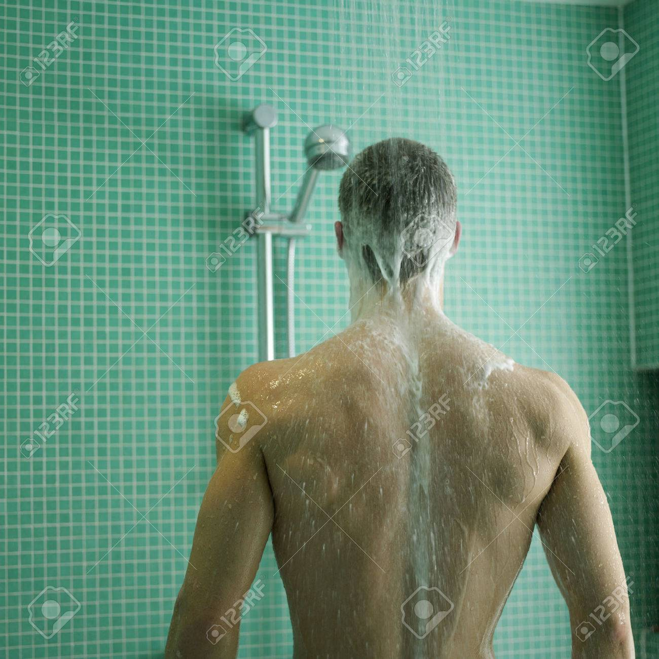 Man Enjoying His Shower Time Stock Photo, Picture And Royalty Free ...