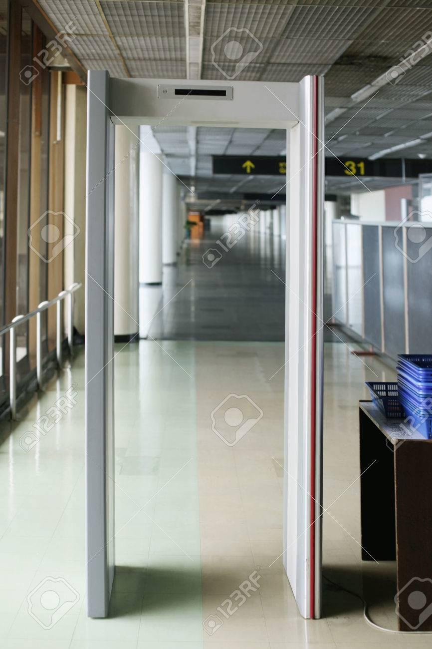 Free Airport Photo Image Detector Royalty Stock And Metal Image 26386624 Picture