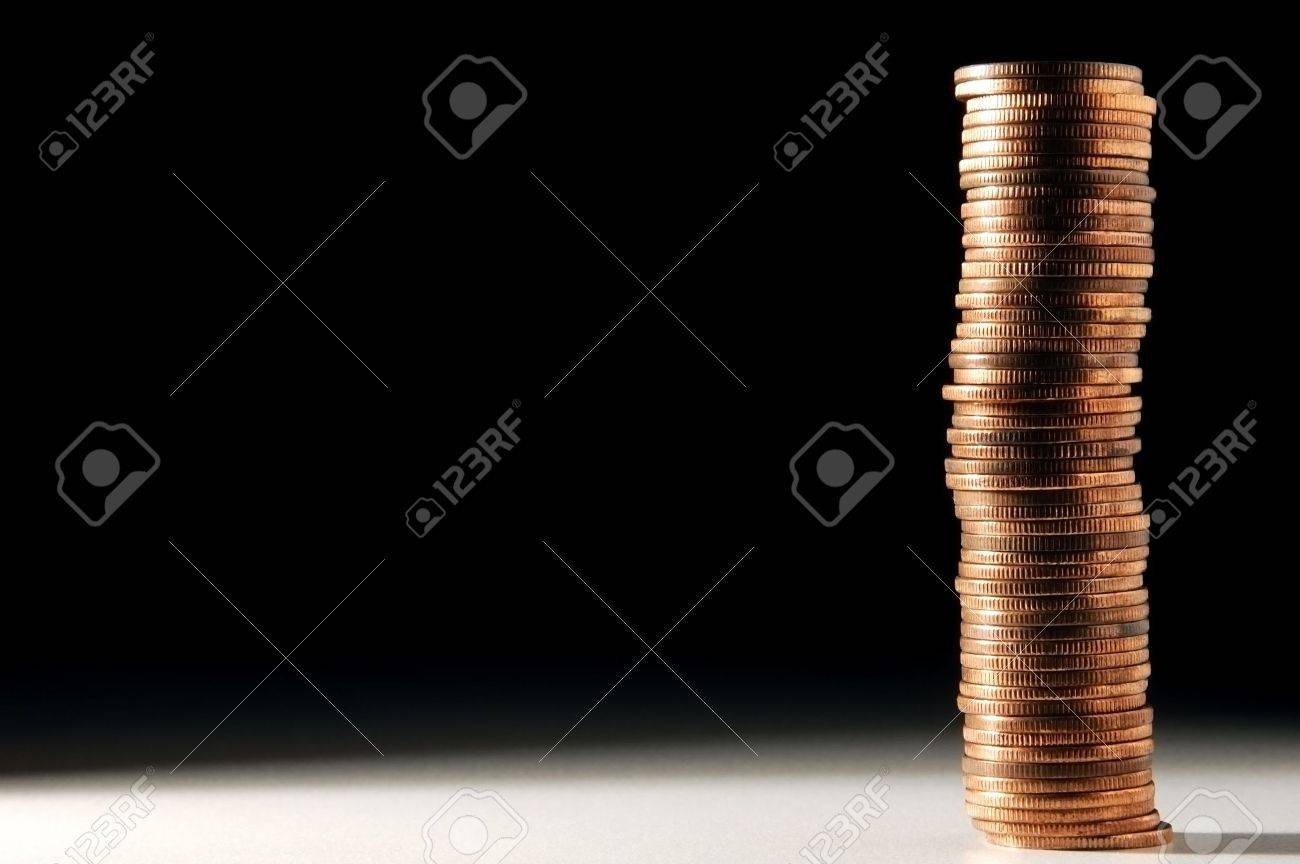long stack of golden coins Stock Photo - 522798