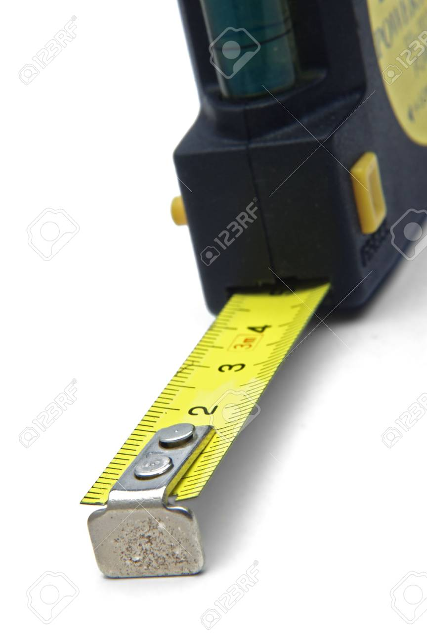 closeup of measuring tape over a white background Stock Photo - 1007600