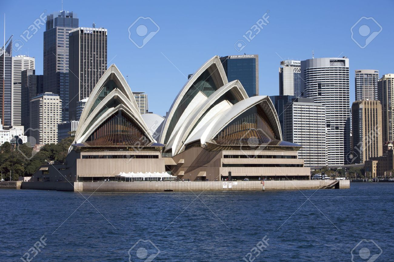 Sydney Opera House in Australia With the City Center in the Background - 12256014
