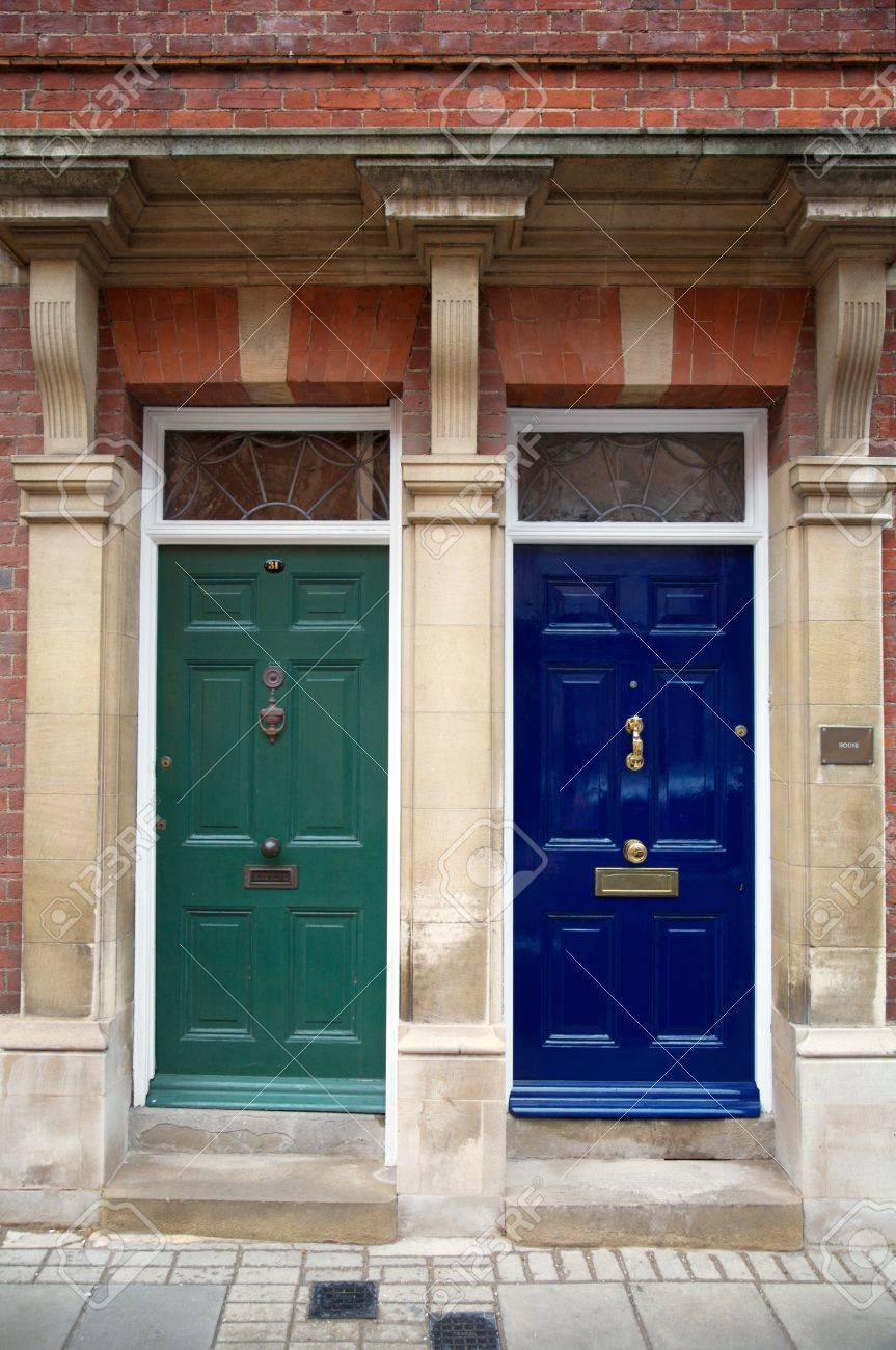 Stock Photo - Two closed doors in London England & Two Closed Doors In London England Stock Photo Picture And Royalty ...
