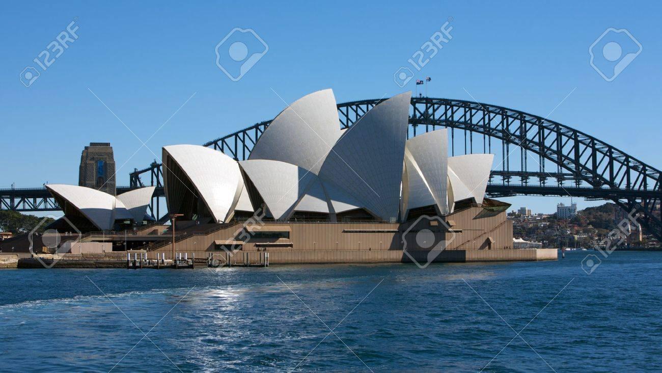 Sydney Opera House and the Harbor Bridge in Australia - 13887828