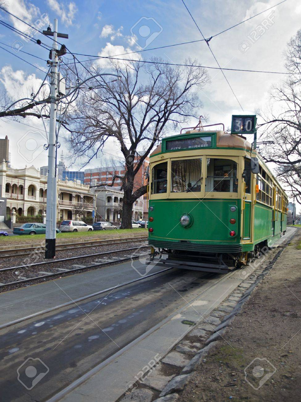 Melbourne trams in the city Centre, Transportation - 15740725