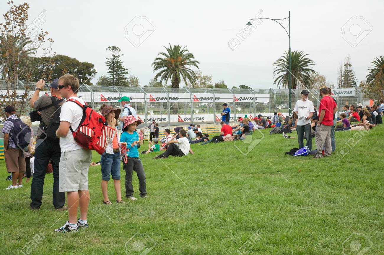 Melbourne 2010 Grand Prix Grounds one of the viewing areas - 15791773