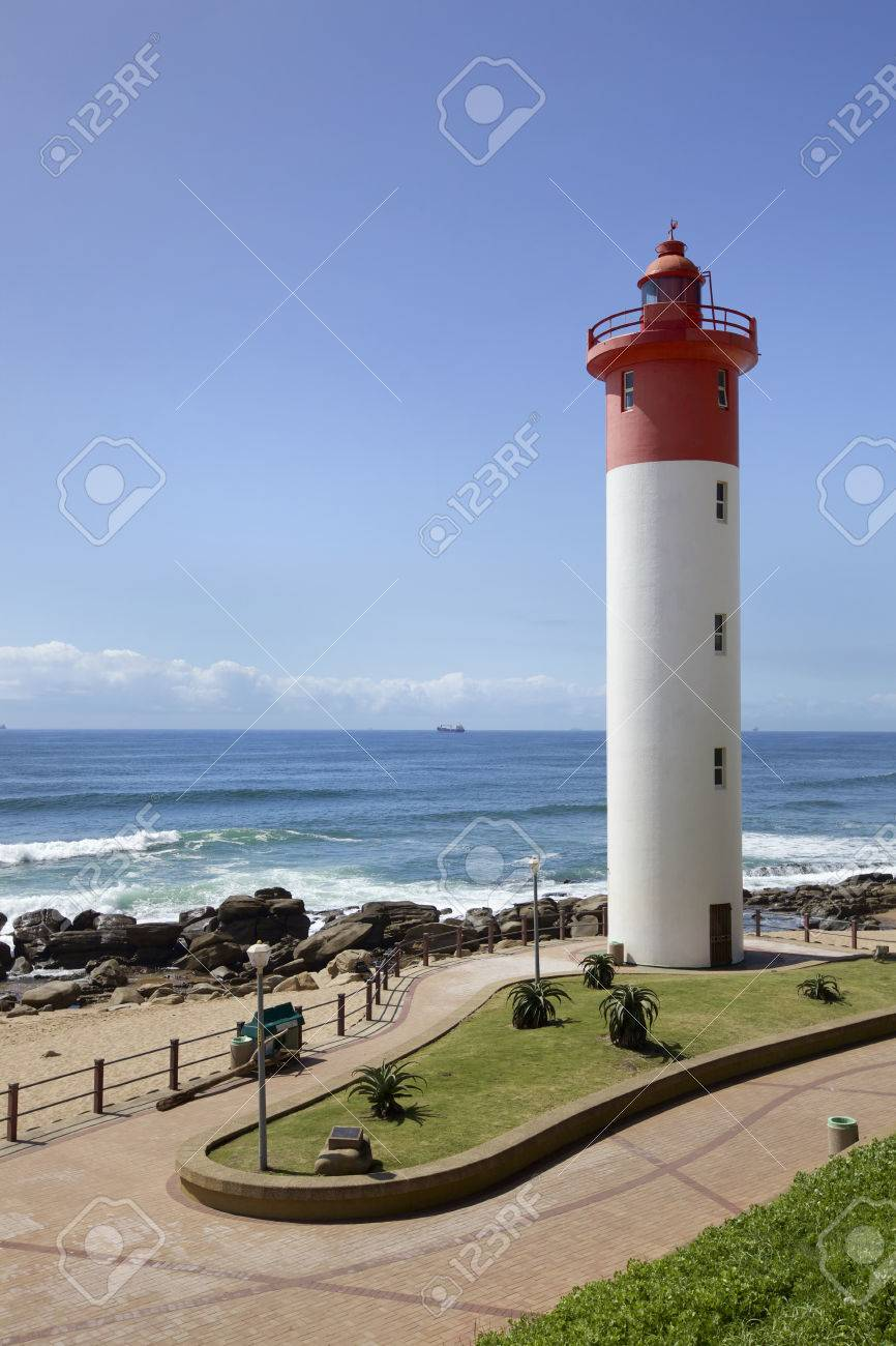 Lighthouse in Umhlanga Near Durban on the East Coast of South Africa - 34227370