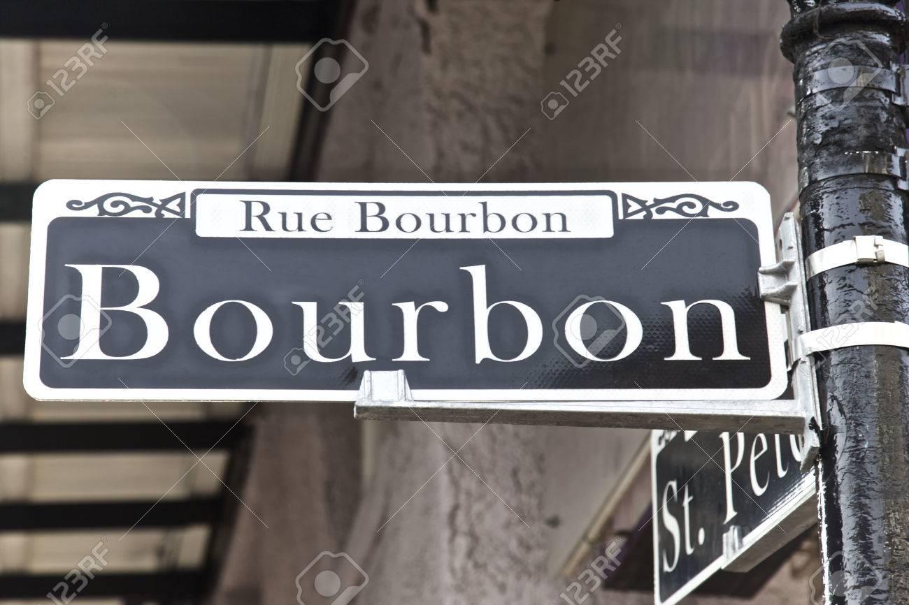 Bourbon Street in New Orleans Louisiana USA - 39563948