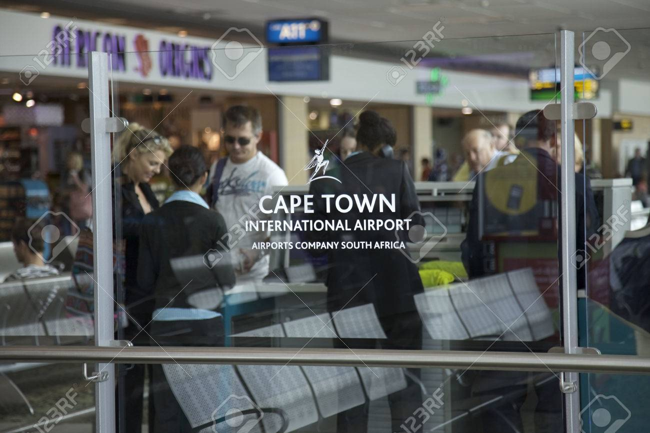 Inside Cape Town international airport, Cape Town, Western Cape, South Africa - 54988171