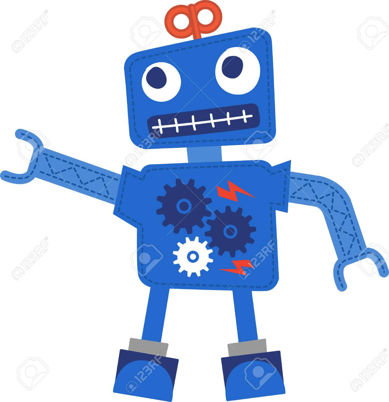 cute robot vector royalty free cliparts vectors and stock rh 123rf com robot vector art robovector laser