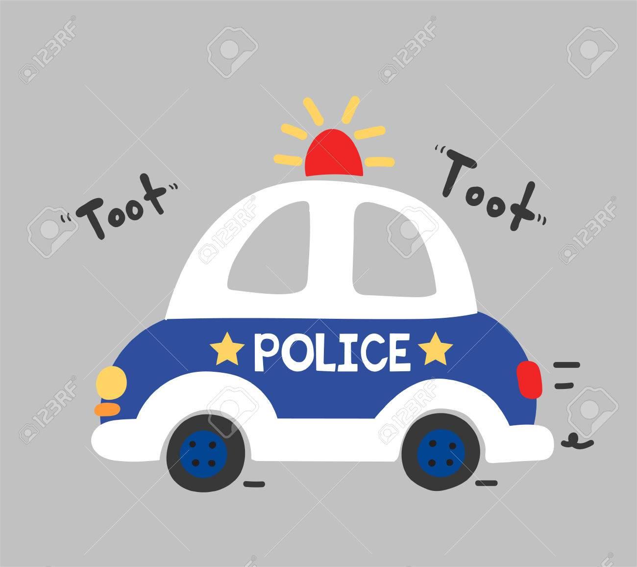 cute police car vector - 67494487