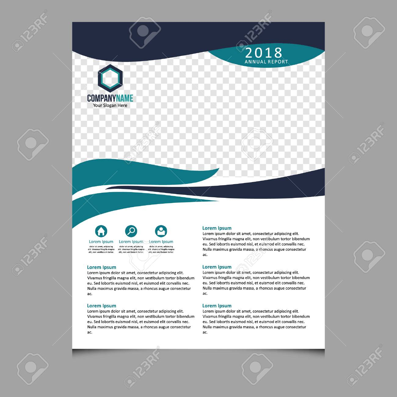 Vert Et Bleu Brochure Brochure Depliant Depliant Modele Depliant Depliant Depliant Conception Depliant Fond Abstrait Presentation Clip Art Libres De Droits Vecteurs Et Illustration Image 88693103