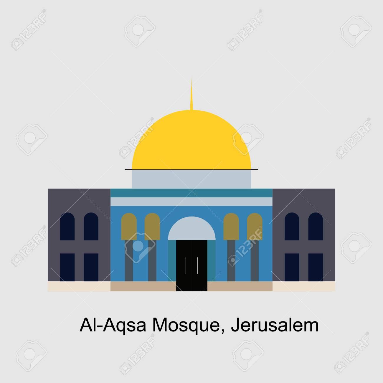 Al Aqsa Mosque Vector Illustration Royalty Free Cliparts Vectors And Stock Illustration Image 91524558