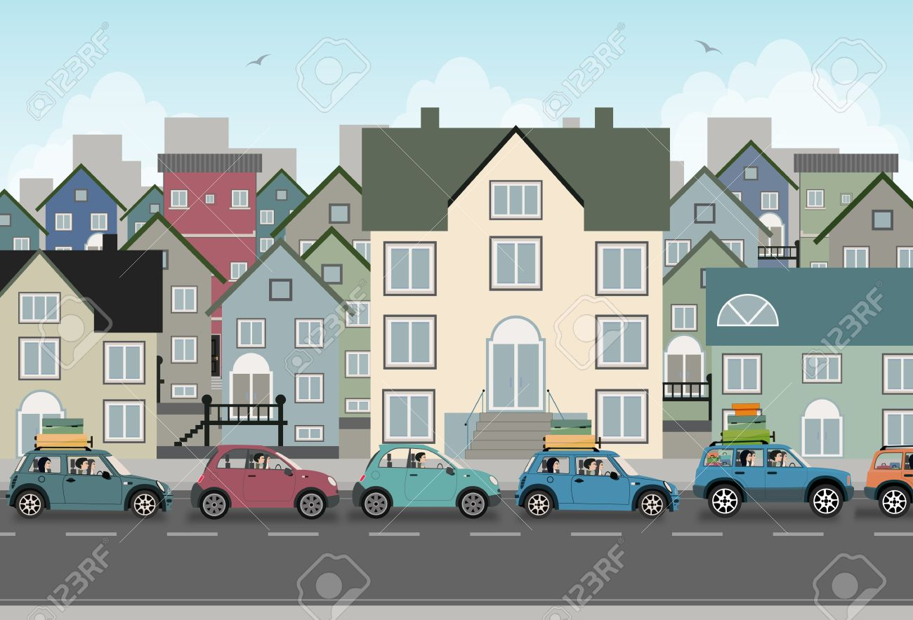 Image of the city with heavy traffic - 21947564