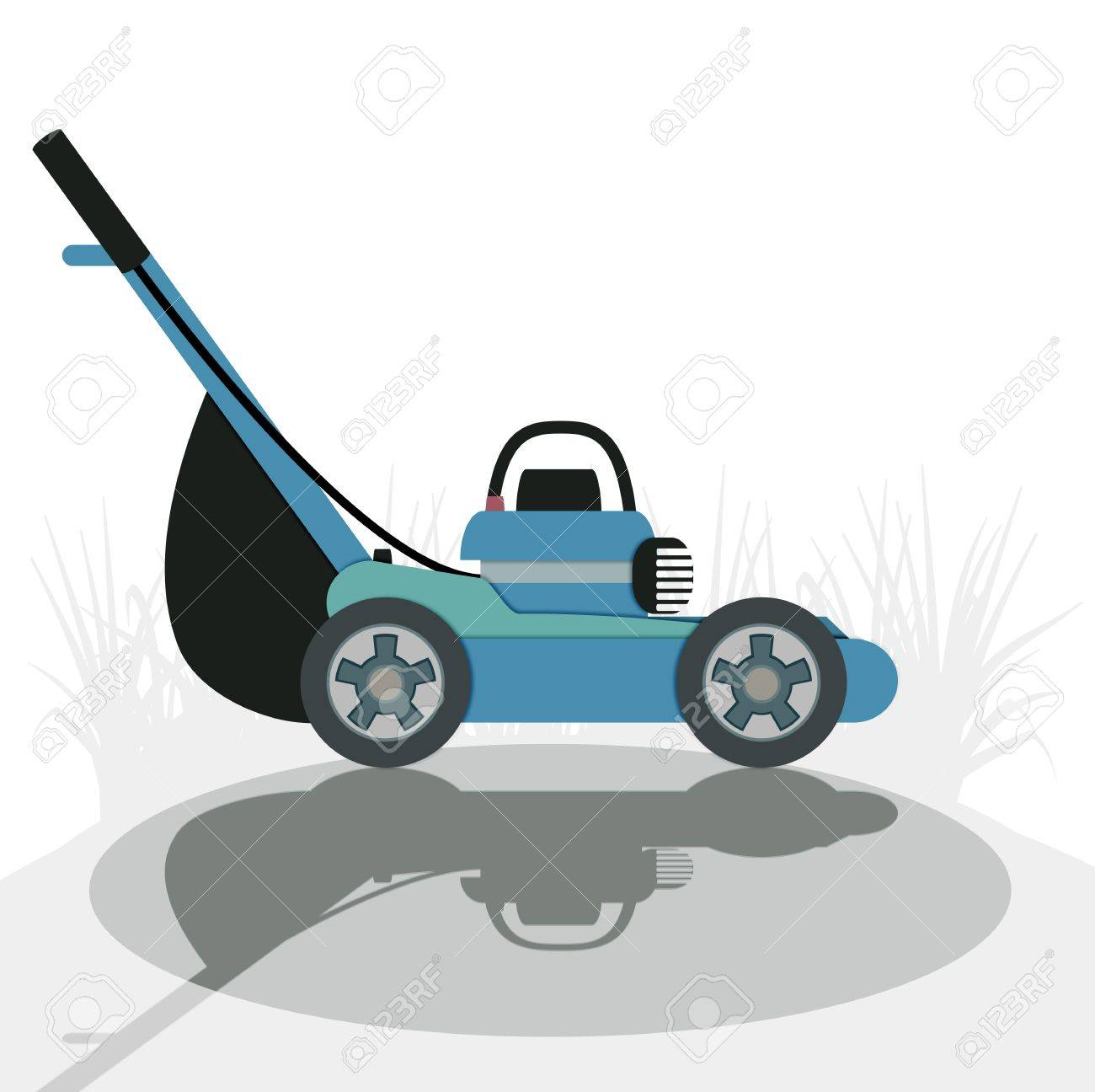Mower with a white background - 21947569