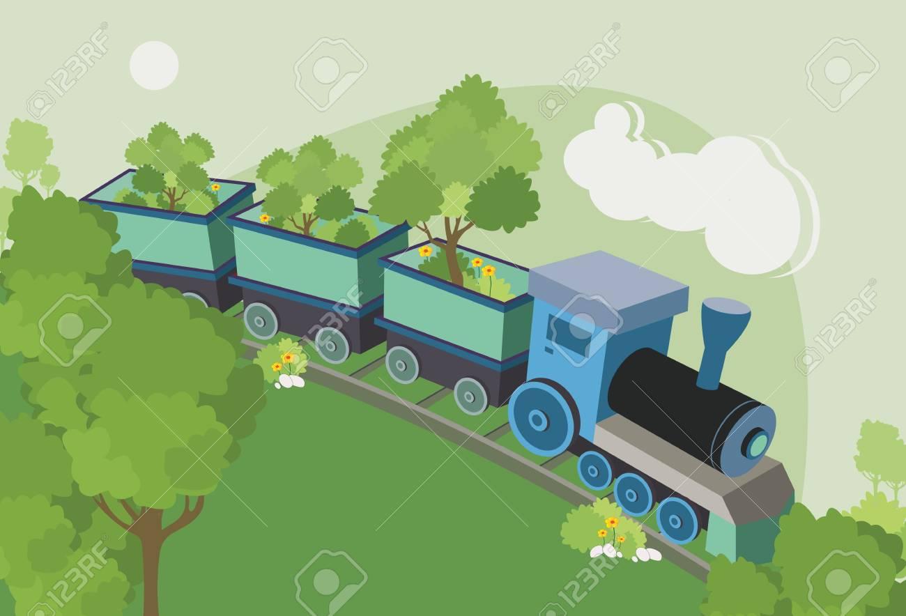 Train tree truck running on rails - 21990034