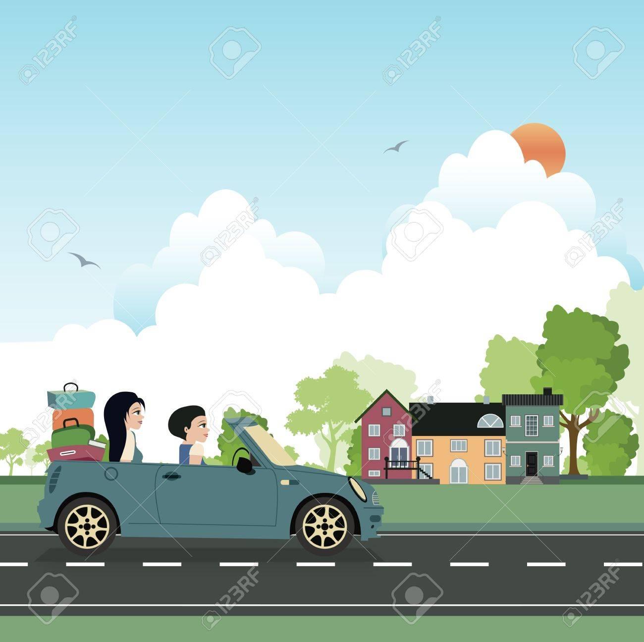 Take a drive to visit family - 22099519
