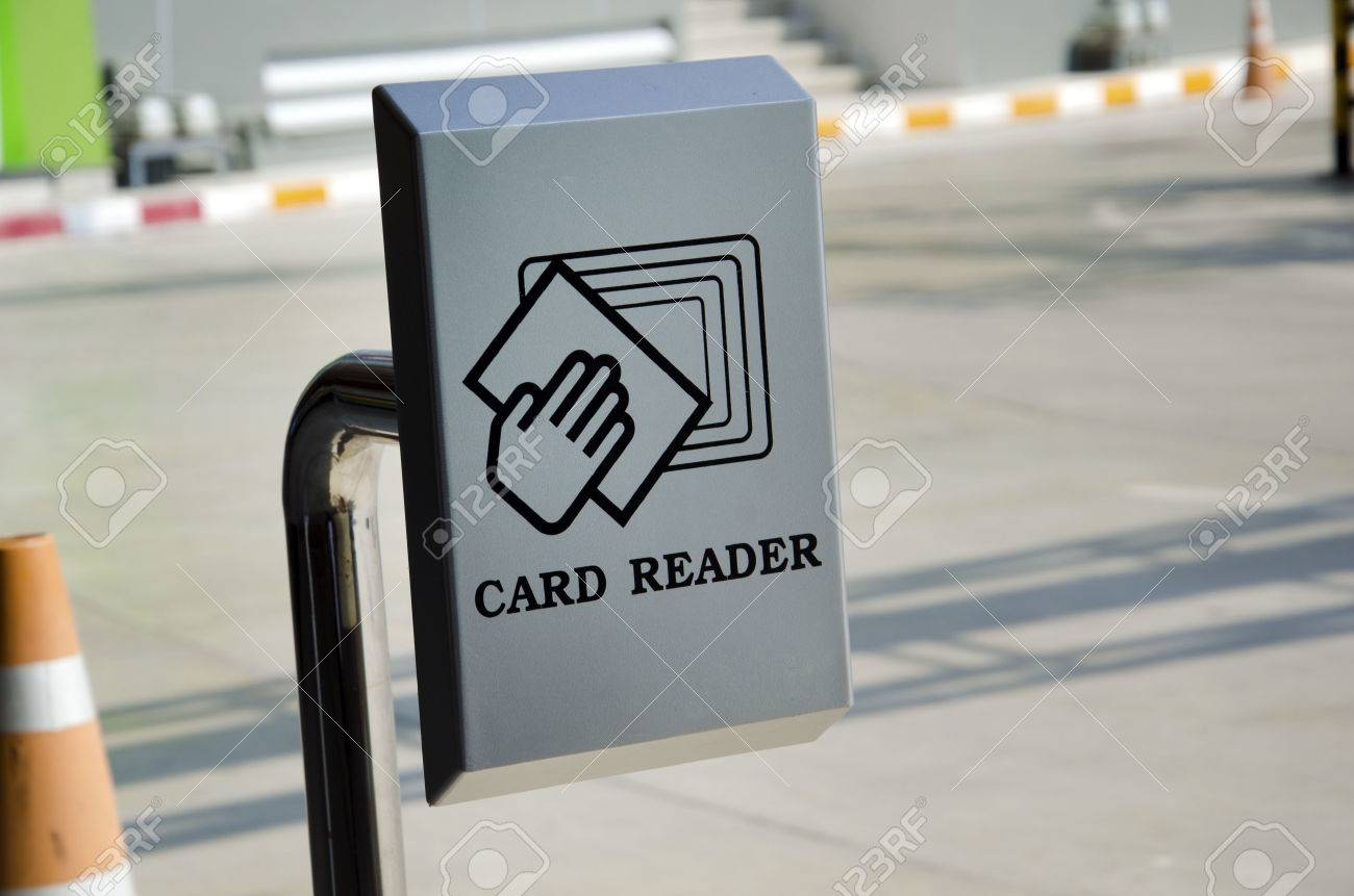 Card reader is used for parking - 23692320