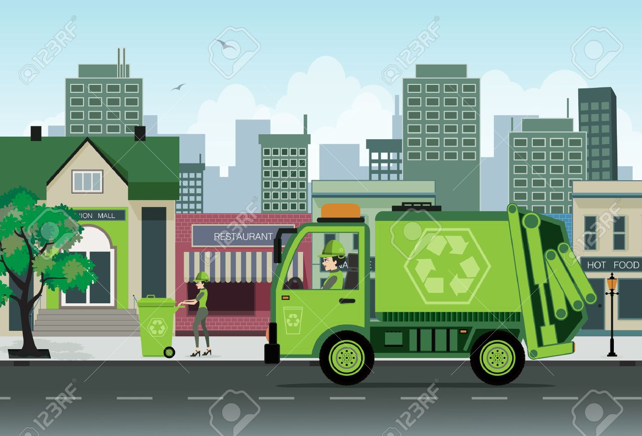 Are employees of garbage collection in the city - 25304707