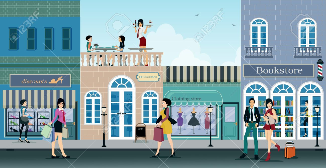 The city is a shopping center where people choose to shop. - 37204635