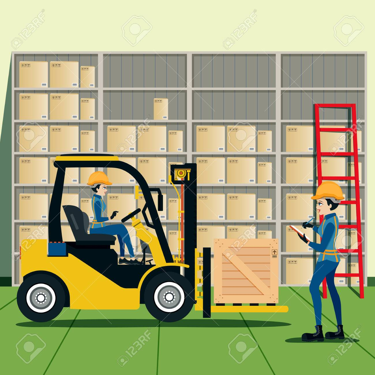 Forklift Driver List of products in warehouse. - 47807110