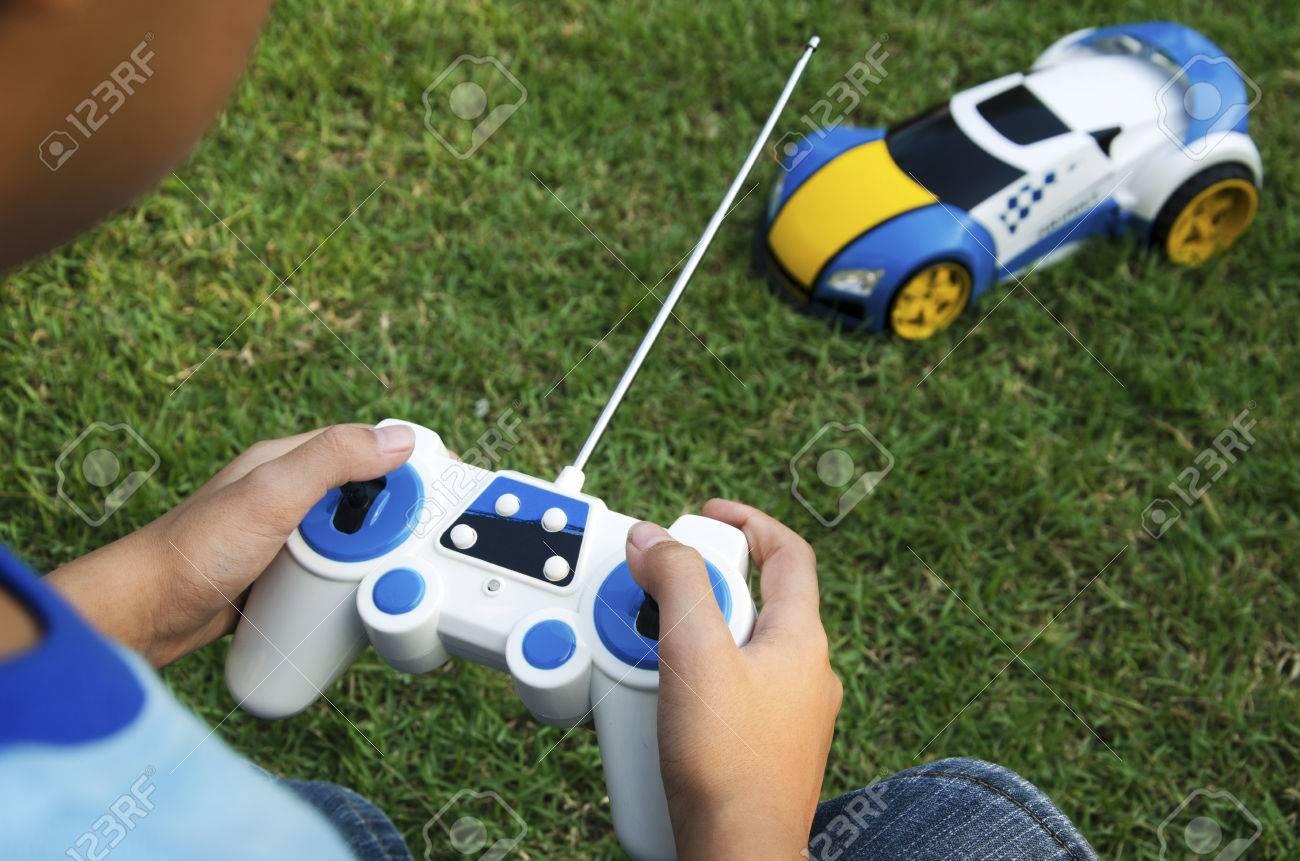 Remote control toy car with a boy. - 50570546