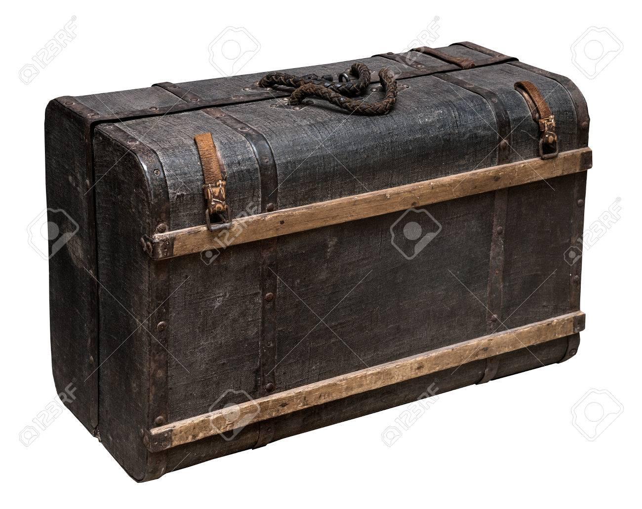 valise en bois Banque du0027images - Valise en bois Vintage XIXe siècle