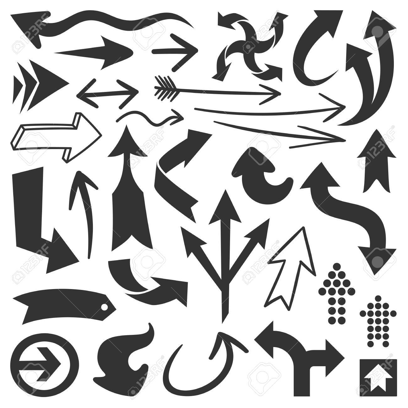 Set of black arrows great for any design projects Stock Vector - 14221564