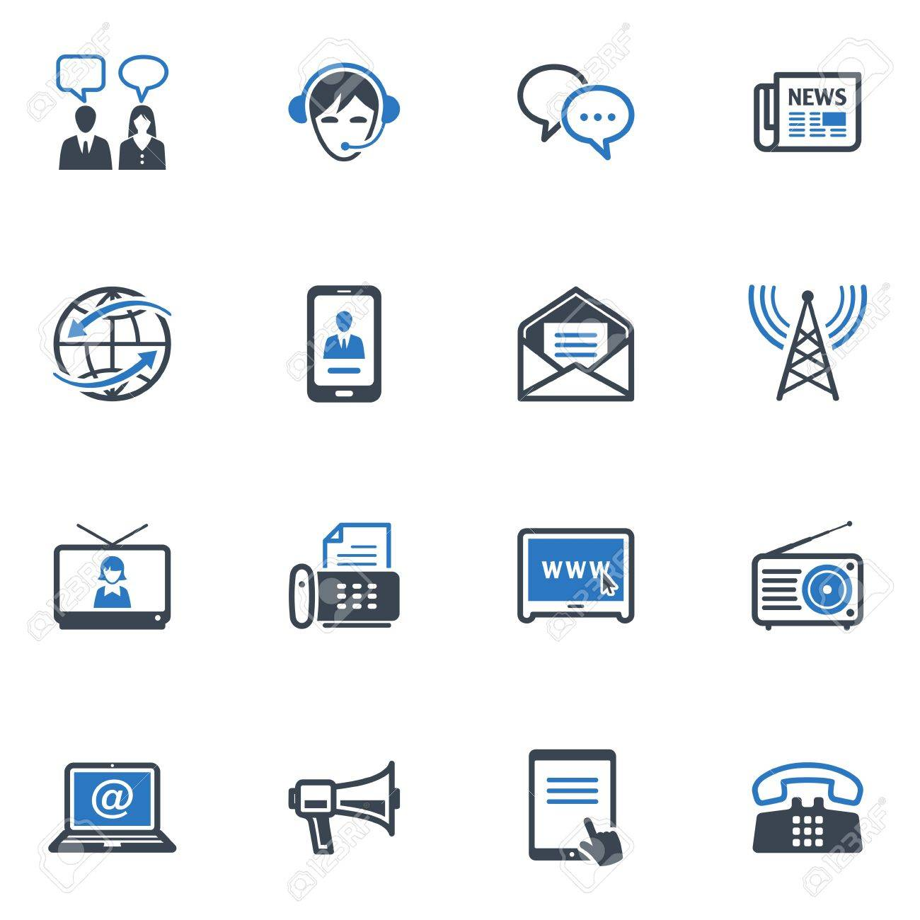 Communication Icons Set 2 - Blue Series Stock Vector - 18025137