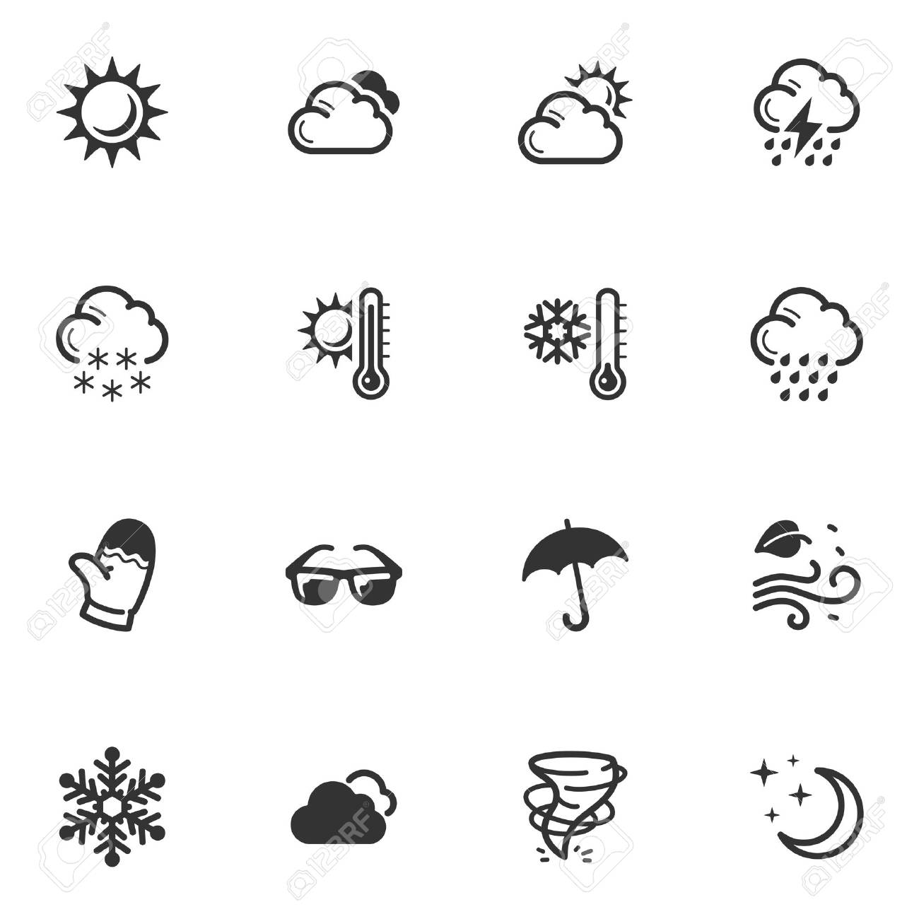 Weather Icons Stock Vector - 18025118