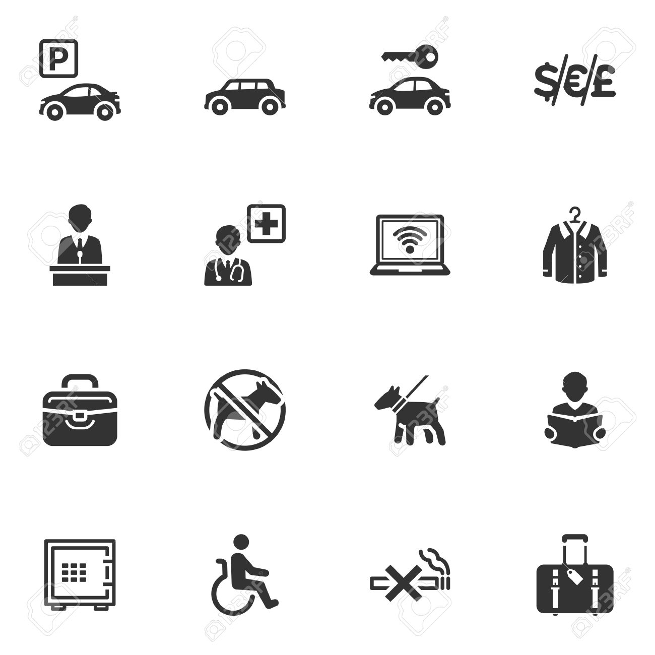 Hotel Services And Facilities Icons