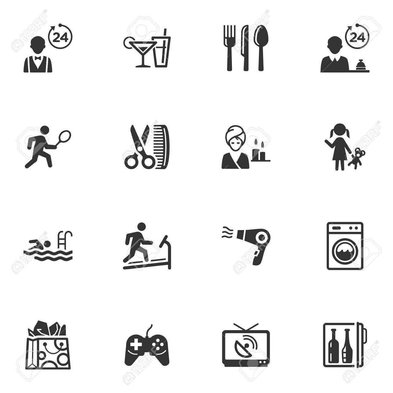 Hotel Services and Facilities Icons - Set 2 Stock Vector - 18577220